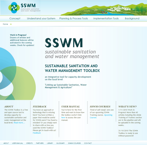 sswm toolbox website screenshot