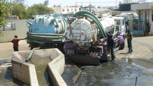 Fecal sludge emptying and transportation service provider